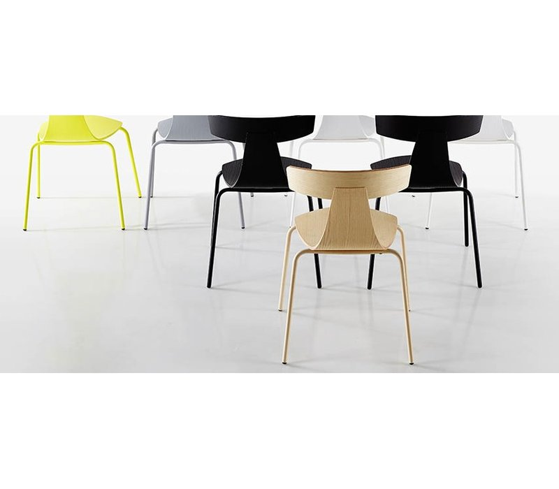 Remo stoel met metalen frame brand new office for Stoel metalen frame