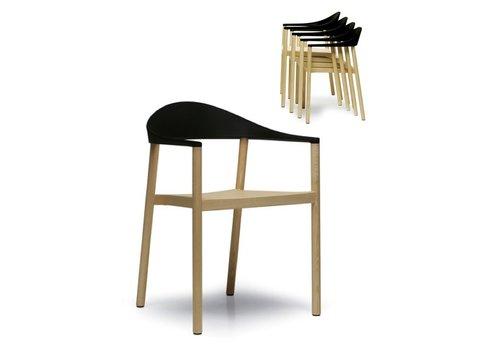 Plank Monza chaise avec accoudoirs
