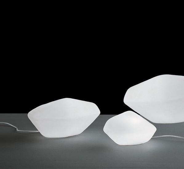 Oluce stones lampe d 39 int rieur ext rieur brand new office - Lampe d interieur ...