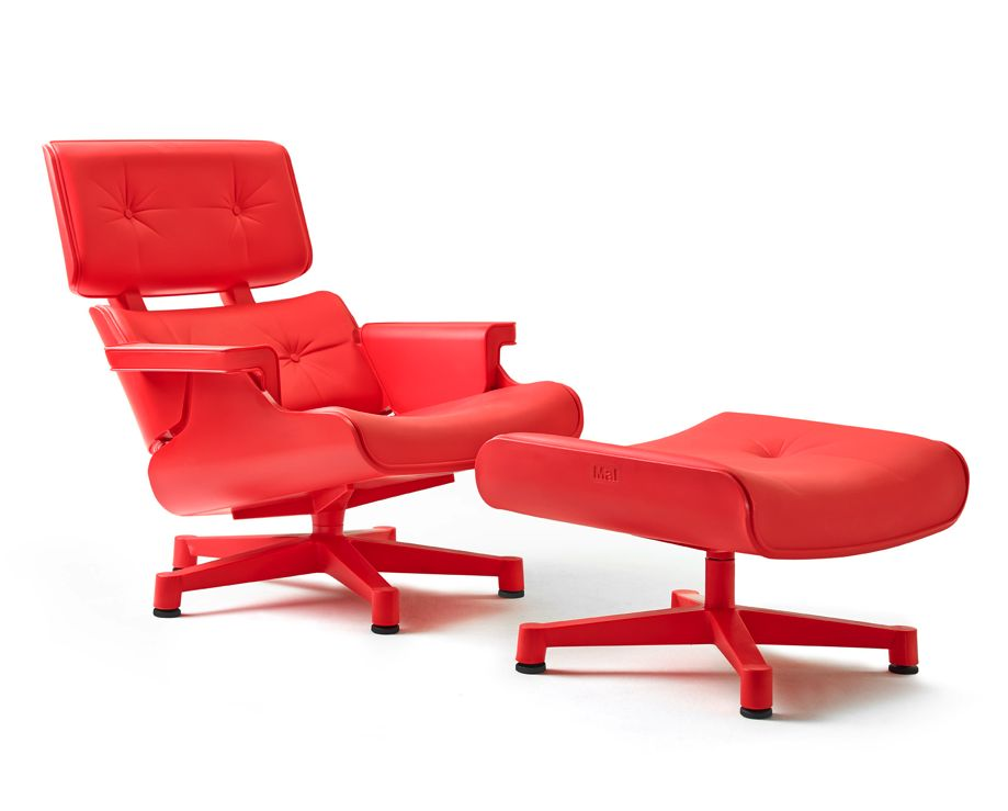 mal 1956 fauteuil avec repose pieds brand new office. Black Bedroom Furniture Sets. Home Design Ideas