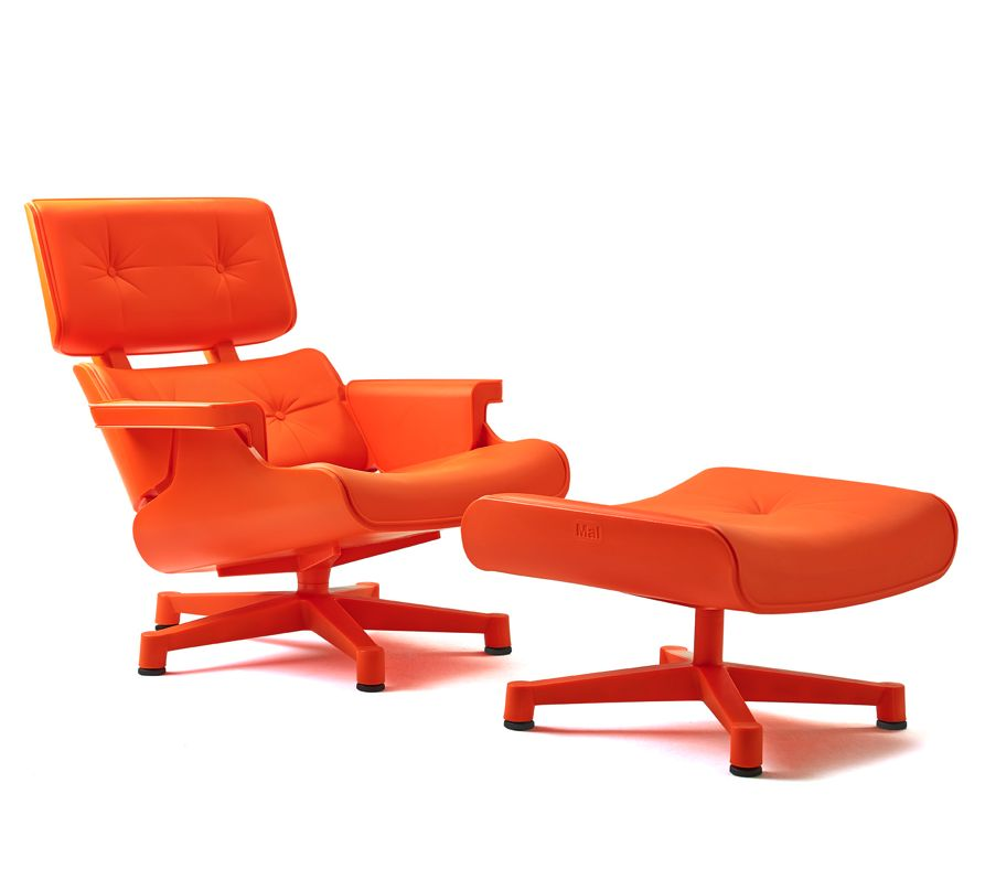 Mal 1956 fauteuil avec repose pieds brand new office - Fauteuil repose pieds ...