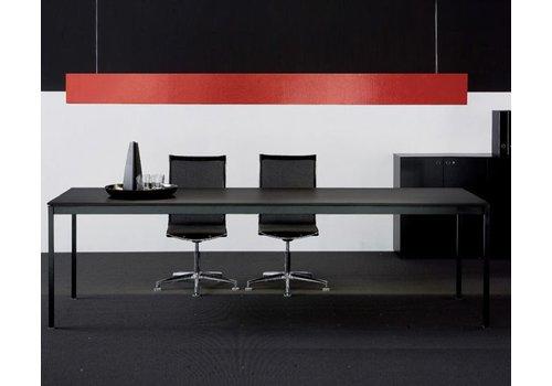 Fantoni Linea BN table de réunion noir/blanc