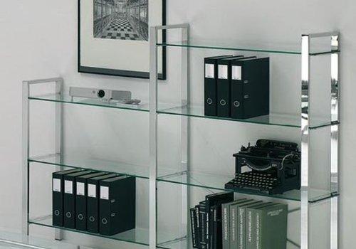 Reinhard Spirit/Zeolith étagère modulaire en verre/chromé