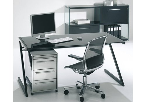 Reinhard Zeolith bureau avec pieds en noir ou blanc