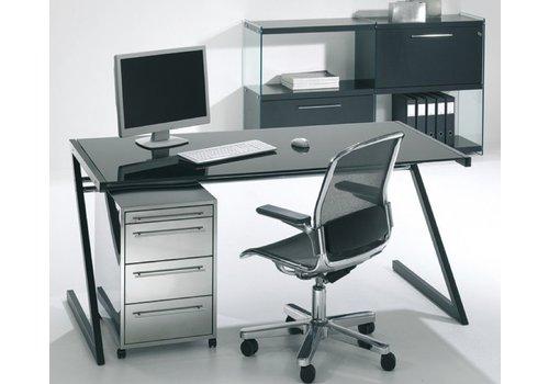 Reinhard Zeolith bureau in zwart of wit frame en glas
