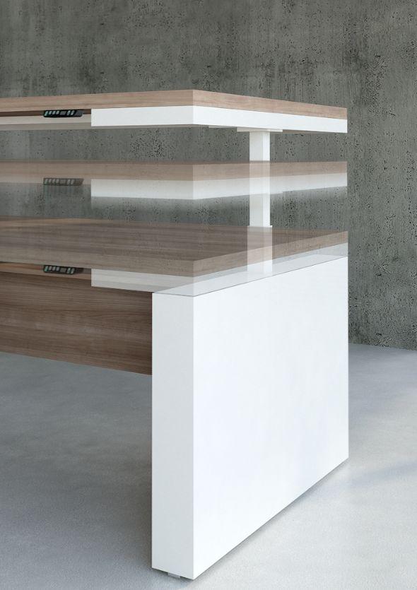 bureau mito r glable en hauteur brand new office. Black Bedroom Furniture Sets. Home Design Ideas