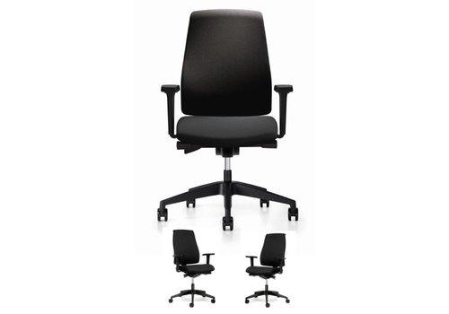 BNO BASIC Bureaustoel met armleuningen - zwart