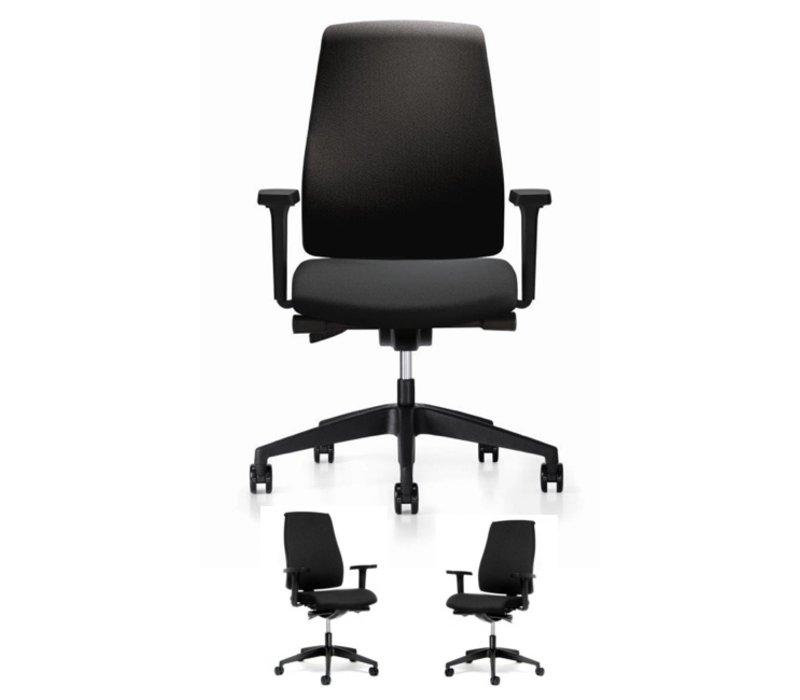 BASIC Bureaustoel met armleuningen - zwart