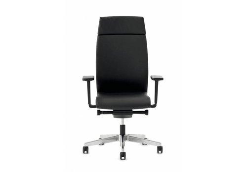 Interstuhl Yos Enjoy de Luxe bureaustoel - zwart Rundnappa leder
