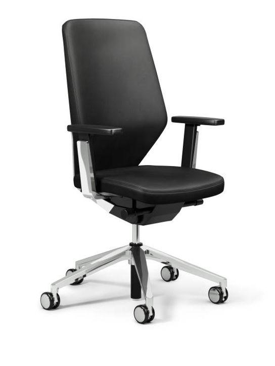 giroflex fauteuil de bureau 656 avec accoudoir en cuir brand new office. Black Bedroom Furniture Sets. Home Design Ideas