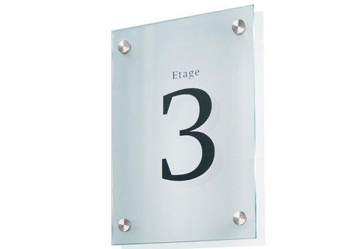 Sign Systems Cristallo plaques de porte - 20h x 15l x 2,8p cm