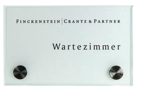 Sign Systems Cristallo plaques de porte - 10h x 16l x 2,8p cm