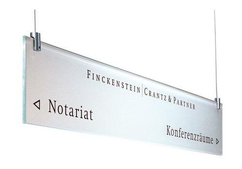 Sign Systems Cristallo panneau d'information - 12h x 70l x 0,6p cm