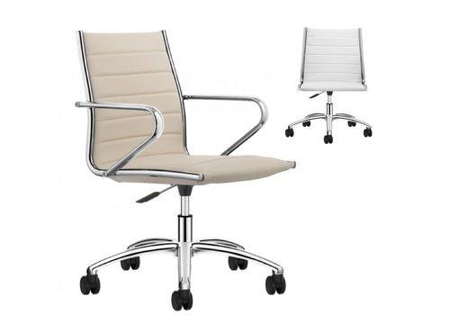 Sitland Classic Meetingstoel - leder met of zonder armleuning