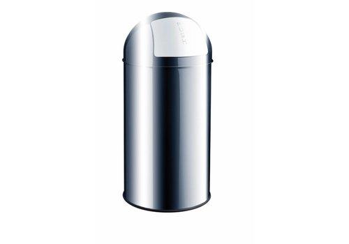 Helit Push Bin RVS afvalbak 30L