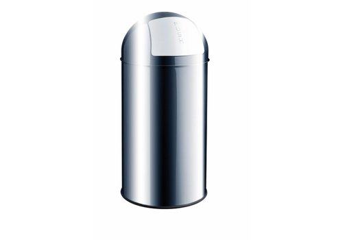 Helit Push Bin RVS afvalbak 50L