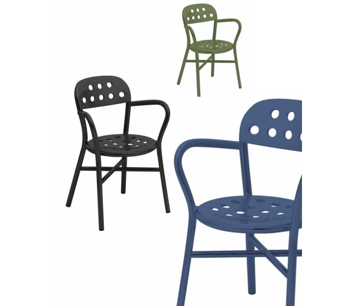 Pipe chair stoel met armleuning brand new office for Stoel met armleuning