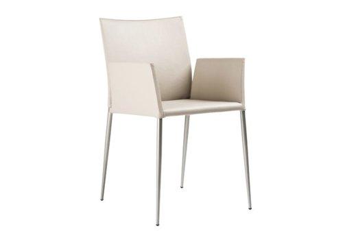 Ondarreta Moka chaise avec accoudoirs