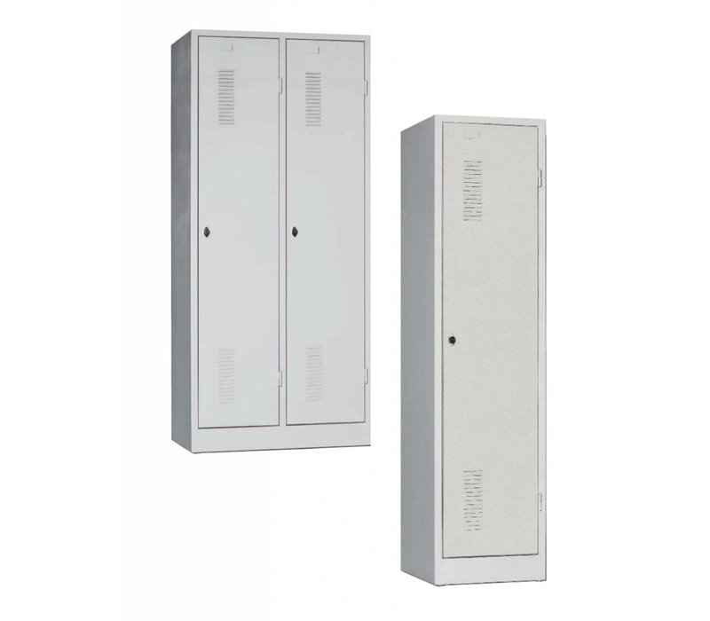 Metalen vestiairekasten met 1 tot 3 deuren