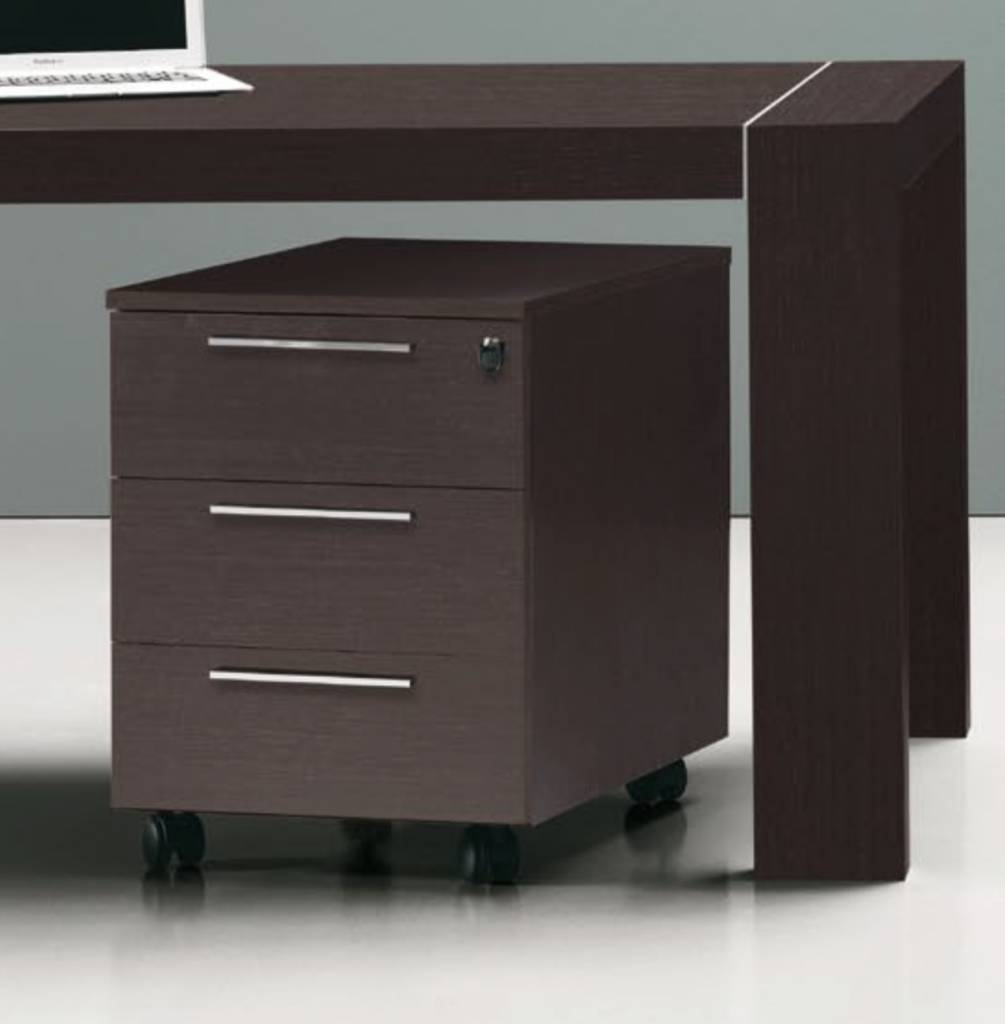 caisson sur roulettes en m lamin brand new office. Black Bedroom Furniture Sets. Home Design Ideas