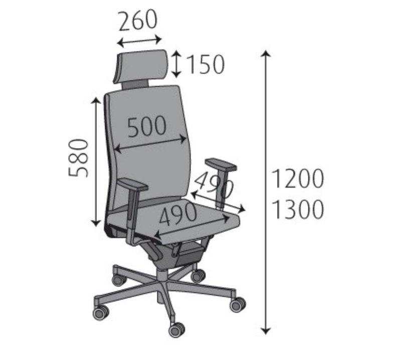 Chaise de bureau Monaco avec appuie-tête
