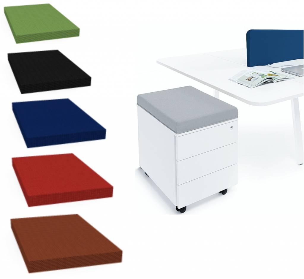 Basic ladeblok met zitkussen brand new office for Ladeblok hangmappen
