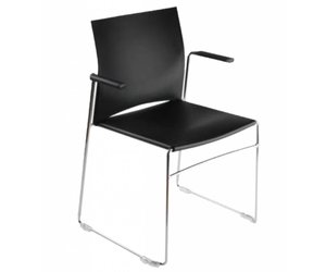 Scoop stoel met armleuning brand new office
