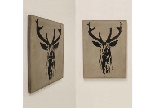 Jan Kurtz Deer beton schilderij