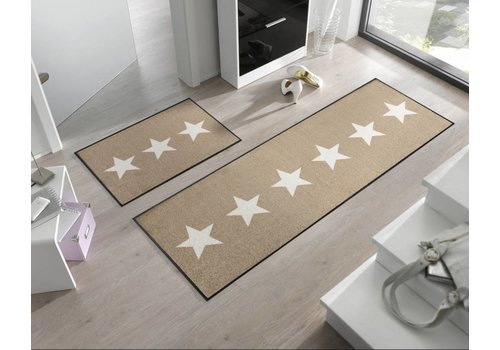 Kleen-Tex Stars Sand deurmat