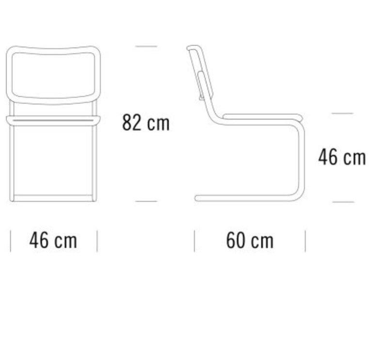 S32 V sledestoel vlechtwerk zonder armleuning