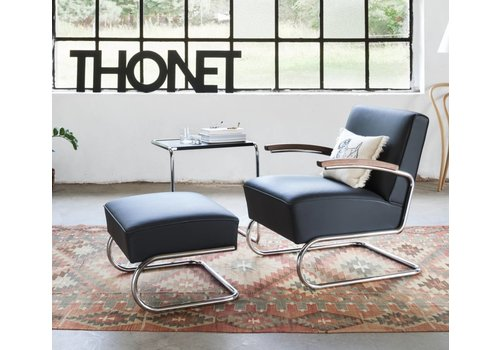 Thonet S411 fauteuil en cuir