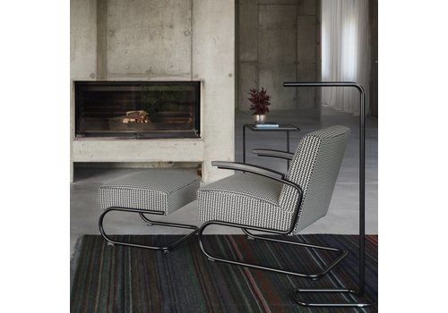 Thonet S411 fauteuil en tissu Maharam