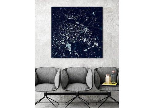 Mira Blue abstract kunstwerk
