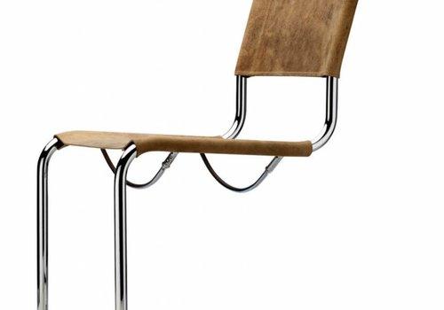 Thonet S33 chaise cantilever en cuir