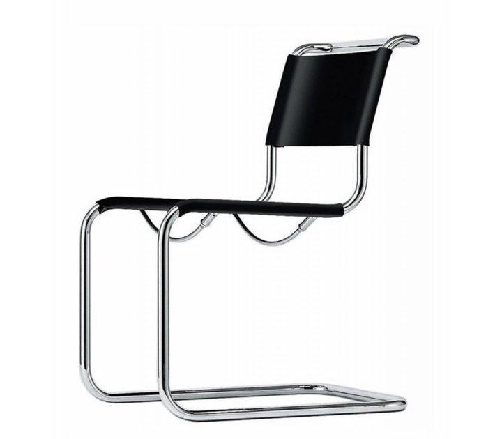 thonet s33 sledestoel leder brand new office. Black Bedroom Furniture Sets. Home Design Ideas