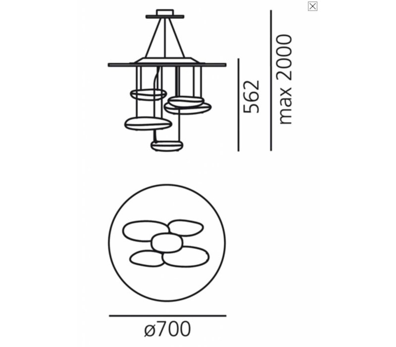Mercury soffitto MINI hanglamp