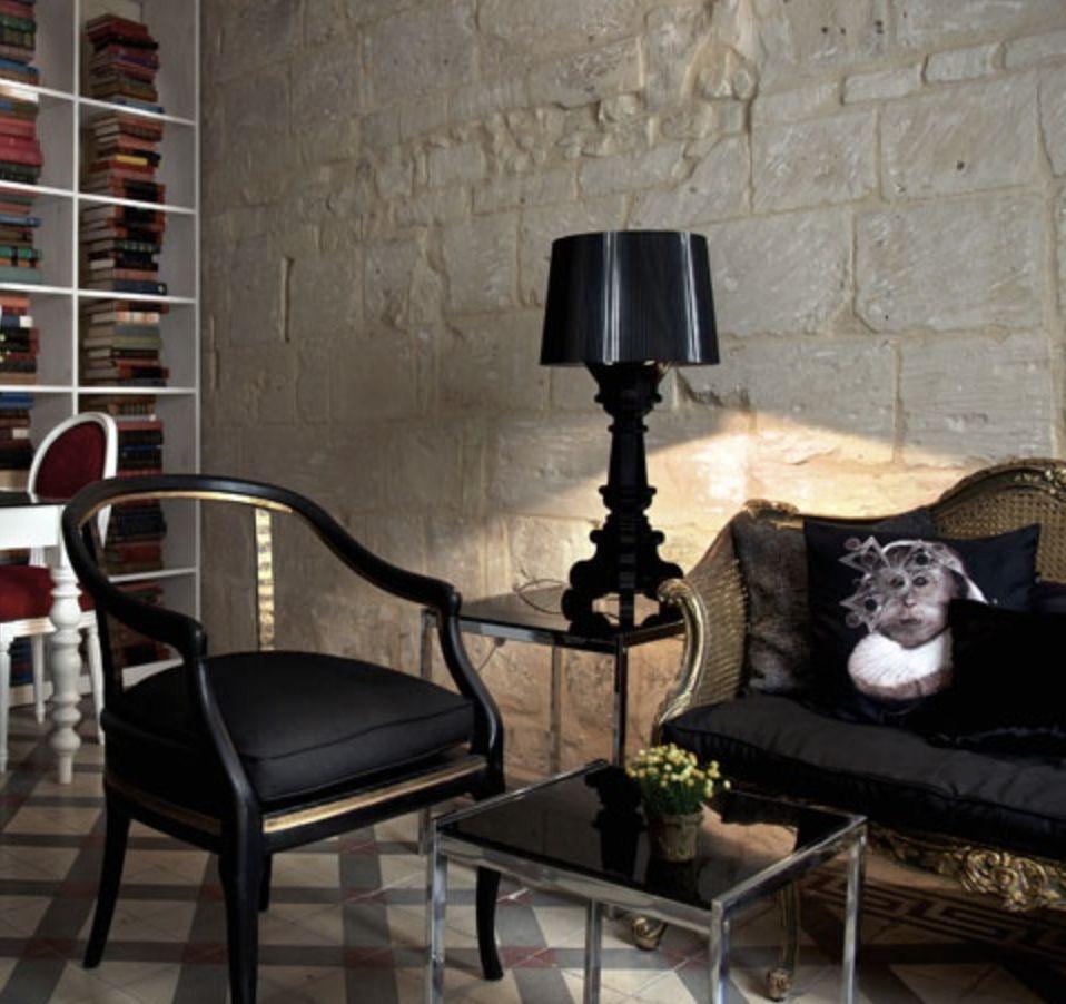 bourgie lampe transparent noir brand new office. Black Bedroom Furniture Sets. Home Design Ideas