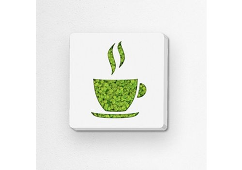 Green Mood Pictogram uit mos - Coffee