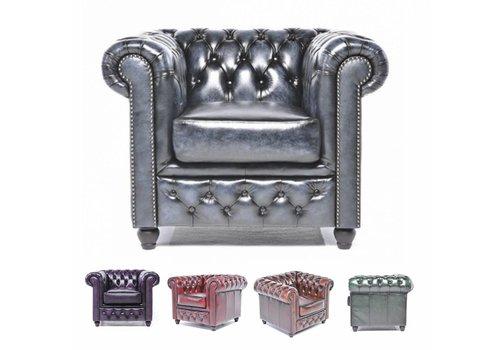 Chesterfield Original Antiek fauteuil