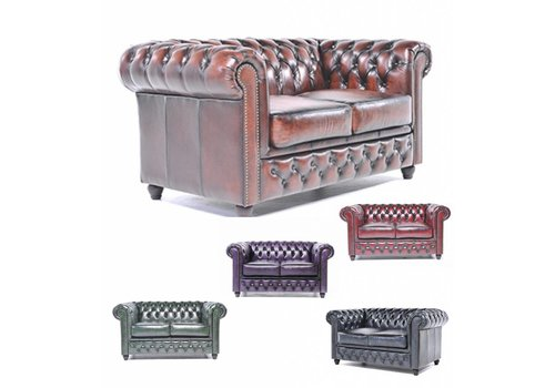 Chesterfield Original Antique canapé 2 places