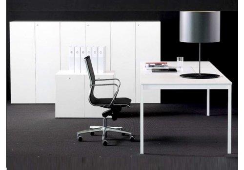 Fantoni Linea BN bureau wit/zwart