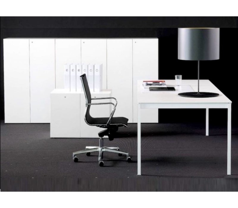 fantoni linea bn bureau noir blanc brand new office. Black Bedroom Furniture Sets. Home Design Ideas