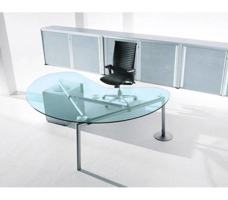 Isotta niervormig bureau design brand new office for Bureau haricot