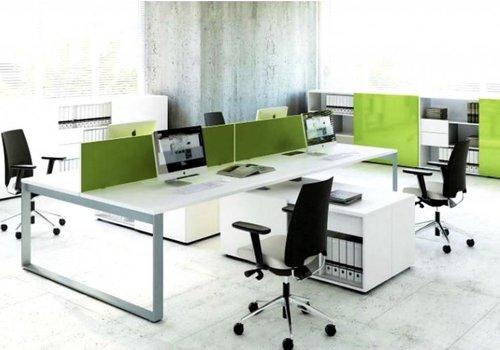Mdd Ogi-Q bureau îlot avec meuble porteur