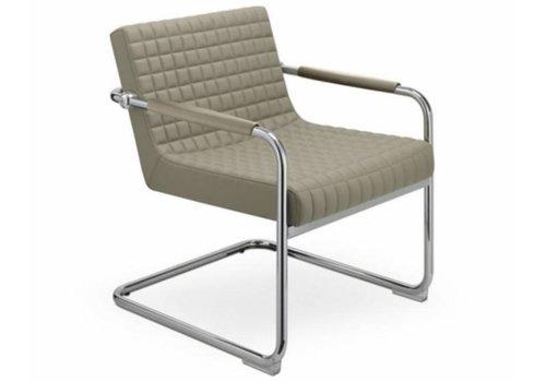 Sitland Rétro chaise de réunion en cuir ou tissu