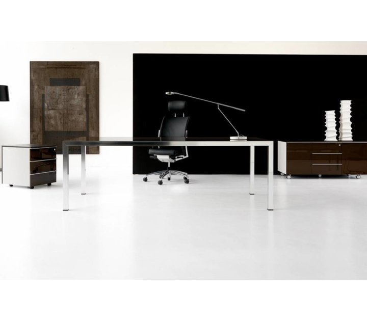 fly bureau de direction en verre brand new office. Black Bedroom Furniture Sets. Home Design Ideas