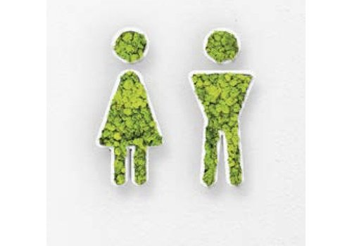 Green Mood Pictogram uit mos - Toilets