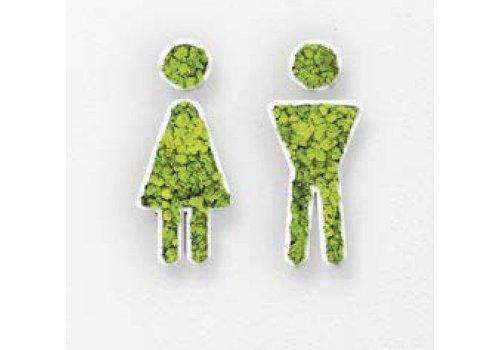Green Mood Pictogramme en mousse - Toilets