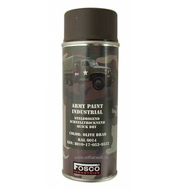 FosCo Industries Olive Drab RAL 6014 spuitbus legerverf sneldrogend 400ml 469312
