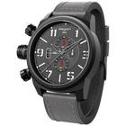 Elegantsis Special Forces Chronograph/Lederen Polsband Grijs/Frame Zwart/ELJT48-OG04LC
